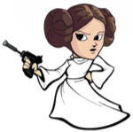 Princess Leia representing a naive CD4+ T-Lymphocyte